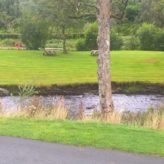The River Rhiw flows to the front of the plot