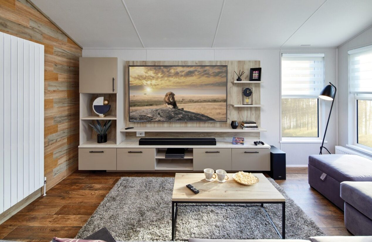 Media wall (TV included)