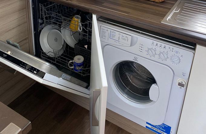 Full-size dishwasher & Washing machine